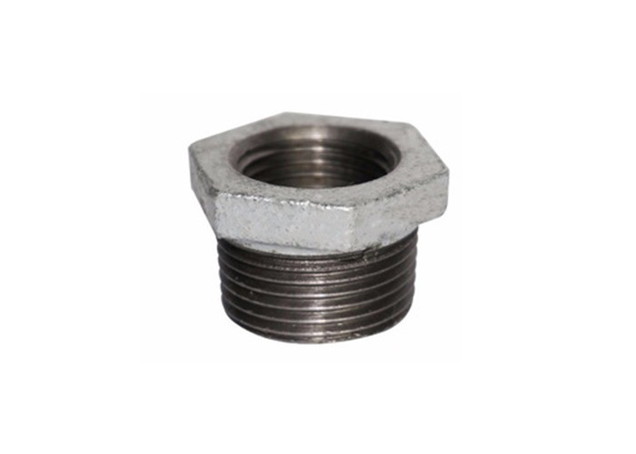 Galvanized Hexagon Plumbing Pipe Fittings , Male / Female Pipe Reducer Bushing NPT